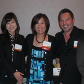 Pausing for a photo at the conference were left to right, Nita Song, 3AF President; Jini Cho, JMNet; Genny Hom-Franzen, 3AF Executive Director; Jon Yokogawa, 3AF Board Member; and Ricky Resurreccion, Sales Manager, ABS-CBN, International.