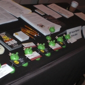 The 3AF's table included collateral materials on the 3AF, MYX and lucky Asian frog business card holders for everyone who stopped by and answered an Asian market trivia question correctly.