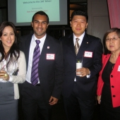 Pictured left to right are: Amy McNeal, interTrend; Dennis Martinez and Mike Lee from State Farm; and Hiroko Hatanaka, IWGroup, Inc.