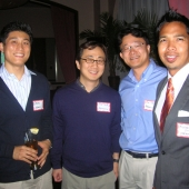 Attending the mixer were Ethan Yang, Peter Keum and Jin Lee from Admaru and Michael Vitug, interTrend.