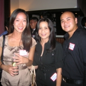 Standing left to right are: Cecilia Lei, EPMG; and Luchie Allen and Paul Allen from Balita Media.