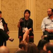 The lunch panel was sponsored by MNet and featured left to right, Sheri Bryant, producer; Ann Lu, Vice President, Marketing & Communications, MNet; and Dave Swartz, Co-founder and Chief Creative Officer, MEDL Mobile.