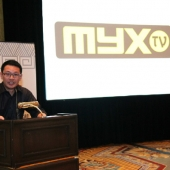 Miguel Santos, Head of MYX-TV, the award event sponsor, made brief remarks.