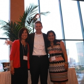 Tony Rogers, Senior Vice President, Brand Marketing & Advertising, Wal-Mart Stores, accepted the 3AF Marketer of the Year award. Pictured with Rogers are Genny Hom-Franzen, 3AF Executive Director (left), and Sharmila Fowler, 3AF Board Member.