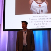 "Christopher Chen spoke about ""Linsanity: The Movie"" scheduled to open in Fall 2013."