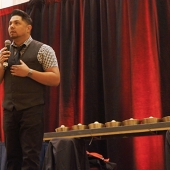 Filipino comedian Joey Guila was the emcee for the 3AF awards program and had everyone laughing.