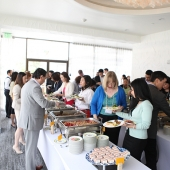 Attendees enjoyed a delicious buffet lunch catered by Chef Roy Choi.