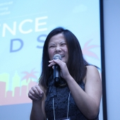Comedienne Jenny Yang was the emcee for the 3AF Creative Excellence Awards. Awards were bestowed to member agencies for their creative work and the 3AF also honored several companies for their commitment to the Asian market.
