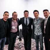 The Summit featured a session on Asians in entertainment. Speakers discussed strategies for branding and advertising for film and television to navigating new platforms for content delivery and consumption. Pictured, left to right are: Melvin Mar, Executive Producer, Fresh Off the Boat; Jeff Yang, Writer/Author; Edward Chang, 3AF President; Kelvin Mar, Actor and Kirby Lee, 3AF Board Member and Director of Business Development, ISAtv.