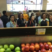 Attendees enjoyed a guided tour of a Ranch 99 supermarket in San Gabriel Valley.