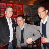 Enjoying the networking time were left to right: Jim Baral, Baral Media Group; Miguel Santos, MYX and Tim Wang, 3AF Board Member and Founder, T.D. Wang.