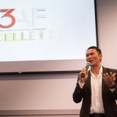 Thomas Tran, retired US Army veteran and comedian served as the emcee for the 3AF's Excellence Awards event.