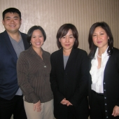 Pictured left to right are Tommy Ng, Managing Director of Admerasia and 3AF Vice President; Olivia deJesus, Managing Director of ABS-CBN, newly elected 3AF Treasurer; Sandra Lee, President of ES Advertising, newly elected board member, and Nita Song, President, IW Group, Inc. and 3AF President.