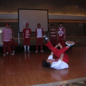 The lunchtime entertainment featured a dazzling performance by Last For One/Award winning Korean b-boys.