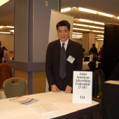 3AF Secretary Edward Chang of APartnership pauses for a photo during the career fair.