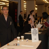 Tuan-Pu Wang of 3AF member agency Admerasia helped answer questions about the 3AF at the DIA event.
