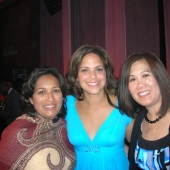 Pausing for a photo after the ADCOLOR Awards dinner during the conference are left to right: Sharmila Fowler, 3AF board member and senior vice president, New American Dimensions; Soledad O'Brien, CNN anchor/reporter, and Genny Hom-Franzen, 3AF executive director.
