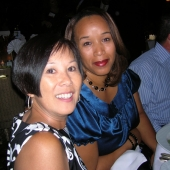 Seated at the 3AF table at the Excellence Awards dinner are left to right: Shelley Yamane, 3AF board member and president, Muse USA; and Candance McCullom, diverse segment manager, Wells Fargo.