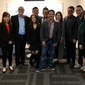 Pictured left to right: Edward Chang, Sandra Lee, Ernest Smyth, Chery Lee, Kirby Lee, Jay Kim, Ricky Resurreccion, Jennifer Chung Kim, Miguel Santos, Tim Wang, Daphne Kwok and Genny Hom-Franzen.